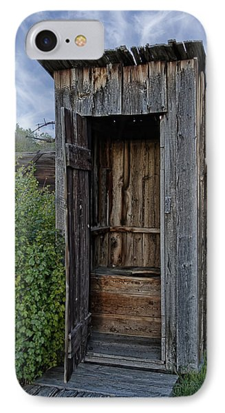 Ghost Town Outhouse - Montana IPhone Case