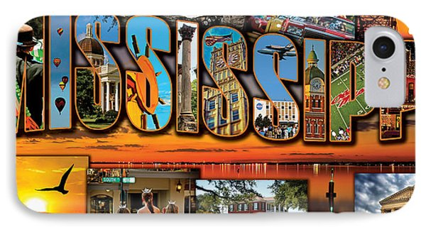 Giant Mississippi Postcard IPhone Case