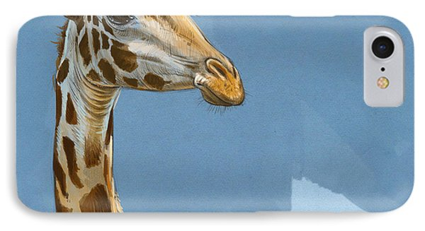 Africa iPhone 8 Case - Giraffe by Aaron Blaise