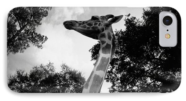 Giraffe Bw - Global Wildlife Center IPhone Case