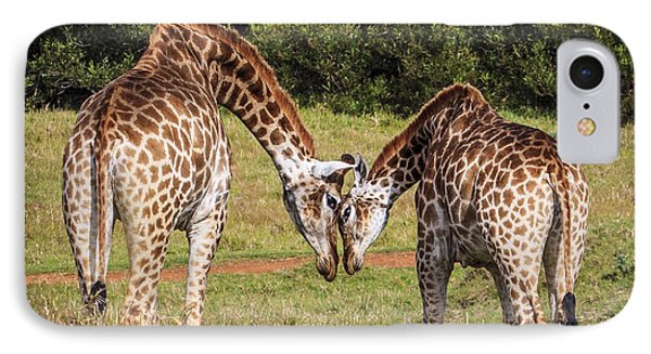 Giraffe Love IPhone Case