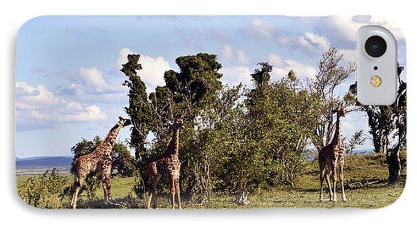 Giraffe Picnic IPhone Case