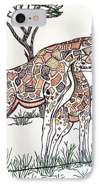 Giraffe Zen IPhone Case