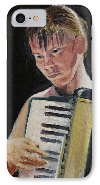 Girl With Accordion IPhone Case