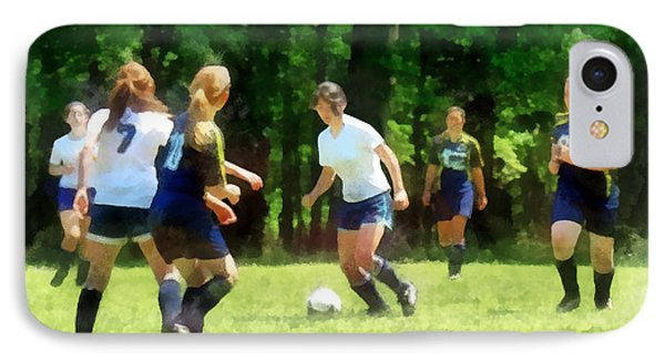 Girls Playing Soccer IPhone Case