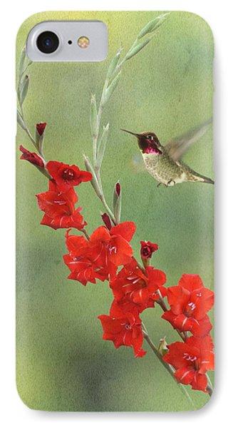 Glad Hummingbird IPhone Case