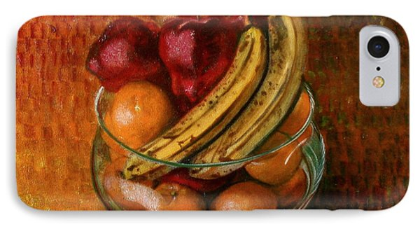Glass Bowl Of Fruit IPhone Case