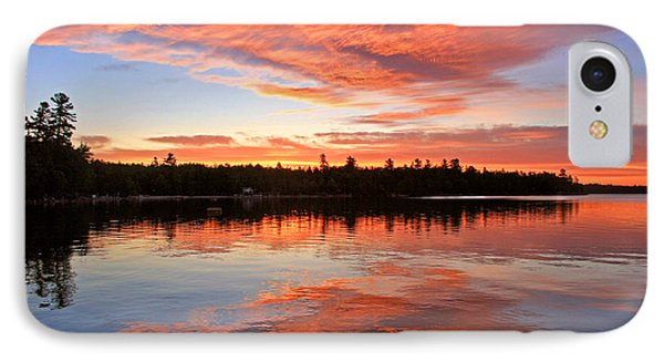 Glorious Sunrise At The Lake IPhone Case