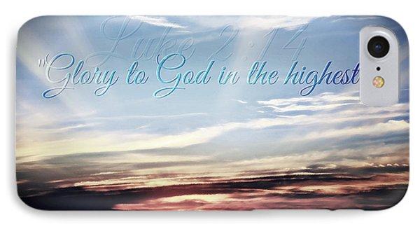 Glory To God IPhone Case