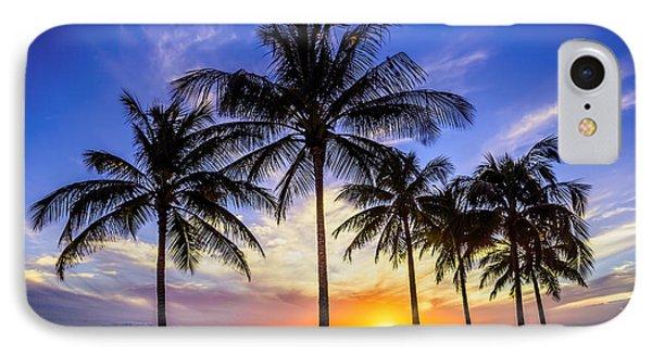 Glowing Orange Hawaiian Sunset IPhone Case