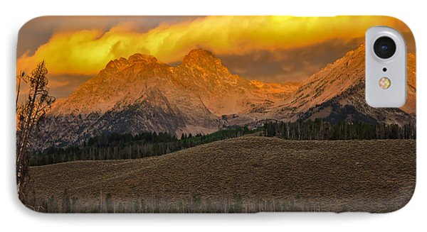 Glowing Sawtooth Mountains IPhone Case