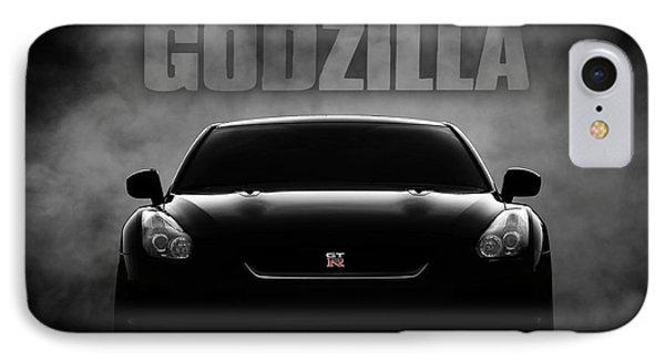 Car iPhone 8 Case - Godzilla by Douglas Pittman
