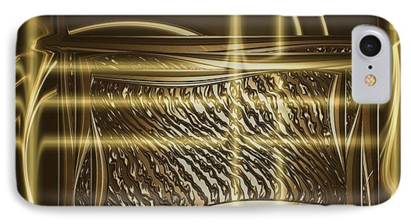 Gold Chrome Abstract IPhone Case