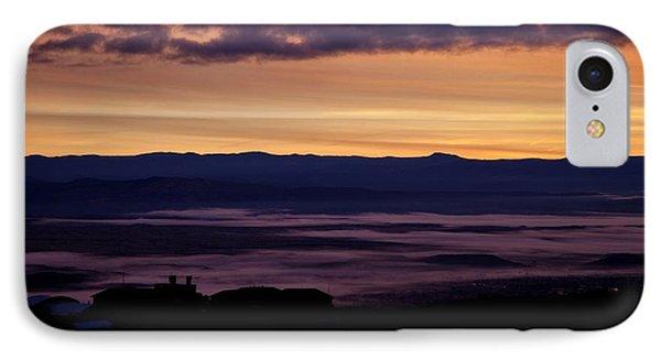 Gold Sky Purple Fog Sunrise IPhone Case