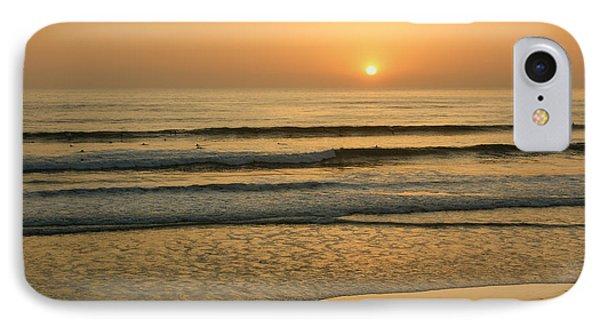 Golden California Sunset - Ocean Waves Sun And Surfers IPhone Case