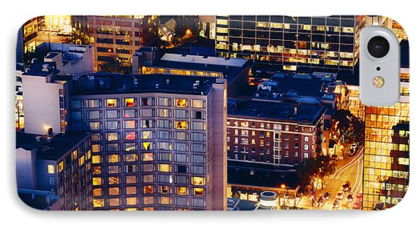 Golden Cityscape Vancouver Mcccl IPhone Case