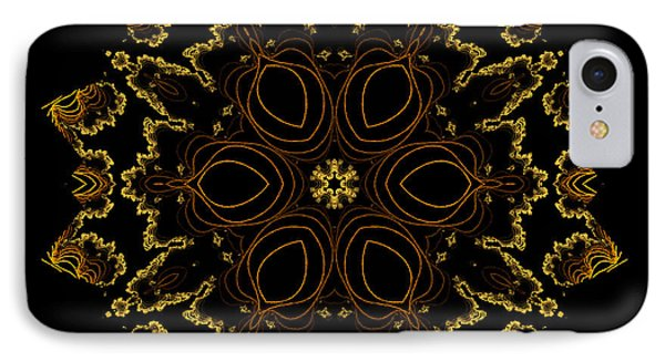 Golden Flower Of The Night IPhone Case
