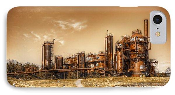 Golden Gas Works IPhone Case