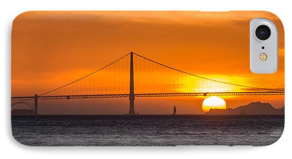 Golden Gate - Last Light Of Day IPhone Case