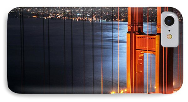 Golden Gate Bridge And Supermoon IPhone Case