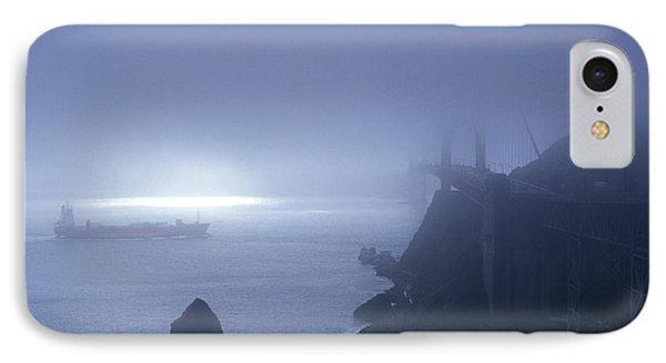 Golden Gate Bridge In Fog, San IPhone Case