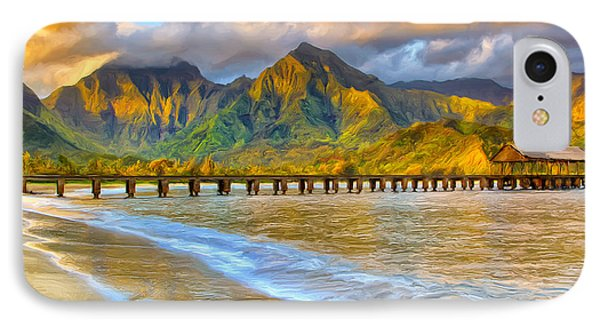 Golden Hanalei Morning IPhone Case