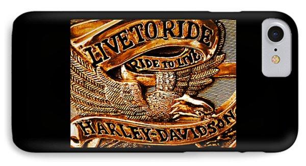 Golden Harley Davidson Logo IPhone Case