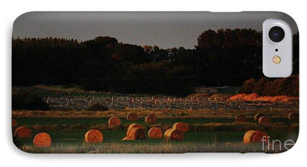 Golden Hay Bales At Dusk IPhone Case