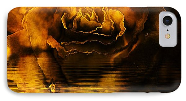 Golden Rose On The Lake IPhone Case