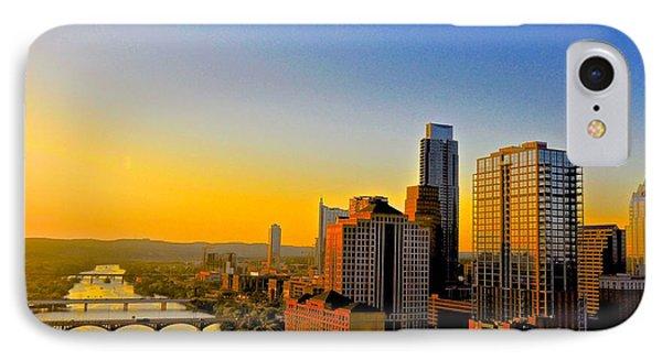 Golden Sunset In Austin Texas IPhone Case