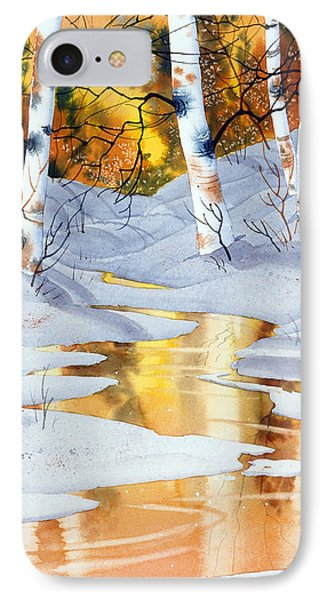 Golden Winter IPhone Case
