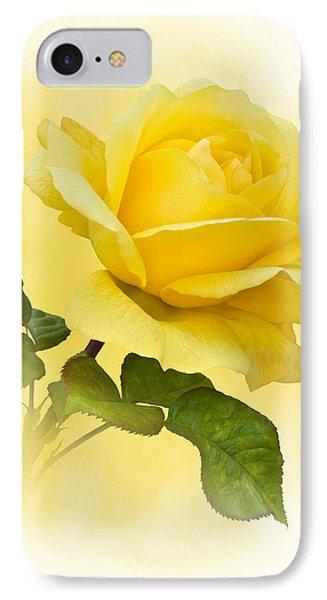 Golden Yellow Rose IPhone Case