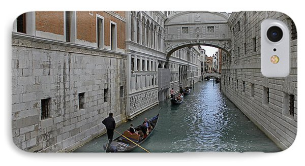 Gondolas Under Bridge Of Sighs IPhone Case
