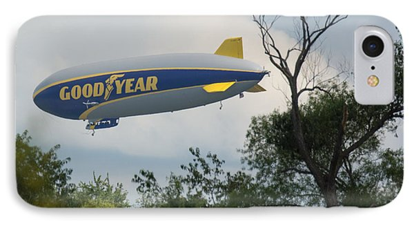 Goodyear Blimp Tree Top Flyer IPhone Case