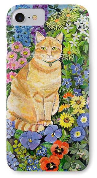 Garden iPhone 8 Case - Gordon S Cat by Hilary Jones
