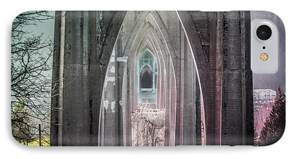 Gothic Arches Hands Folded In Prayer IPhone Case