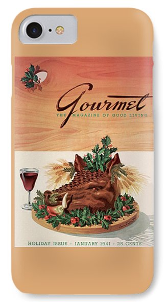 Gourmet Cover Featuring A Boar's Head IPhone Case