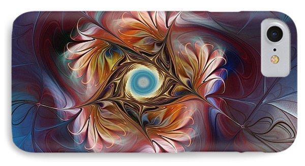 Grace And Elegance-floral Fractal Design IPhone Case