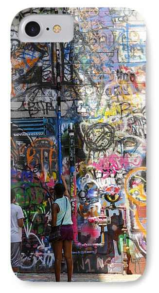 Graffiti Wall Watchers IPhone Case