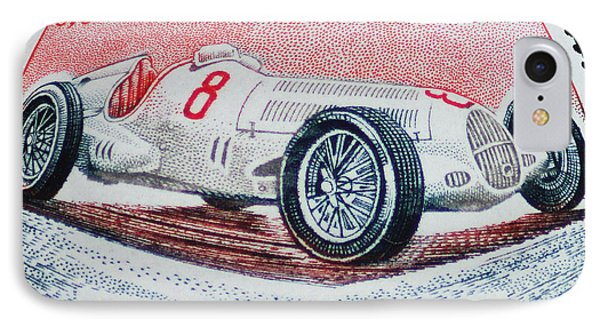 Grand Prix De Monaco 1936 Vintage Postage Stamp Print IPhone Case