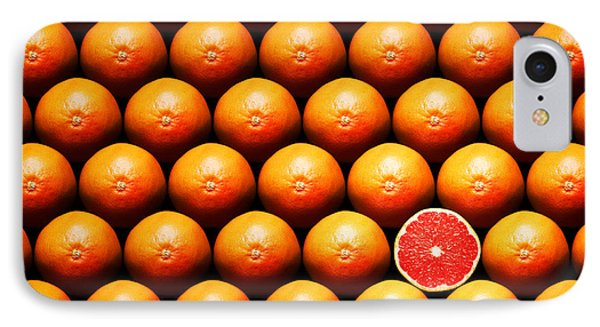 Fruit iPhone 8 Case - Grapefruit Slice Between Group by Johan Swanepoel