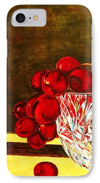 Grapes In A Crystal Bowl IPhone Case
