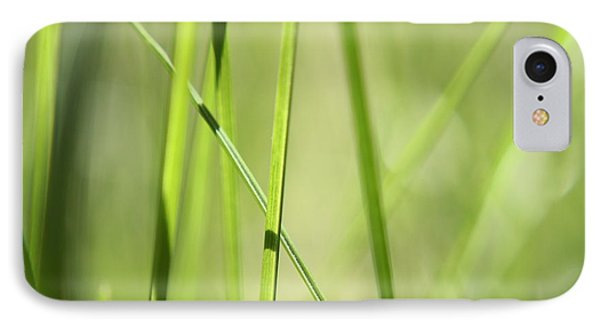 Grass Abstract - Woodie- Green 01 IPhone Case