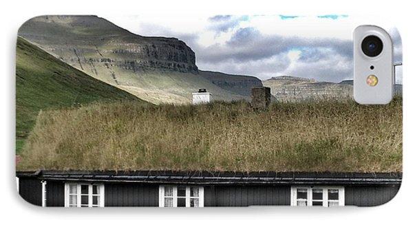 Grass Roof House In Faroe Islands IPhone Case