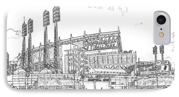 Great American Ball Park Line IPhone Case
