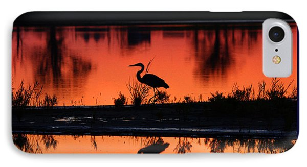 Great Blue Heron At Sunrise IPhone Case