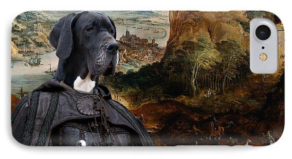 Great Dane Art - The Boar Hunt IPhone Case