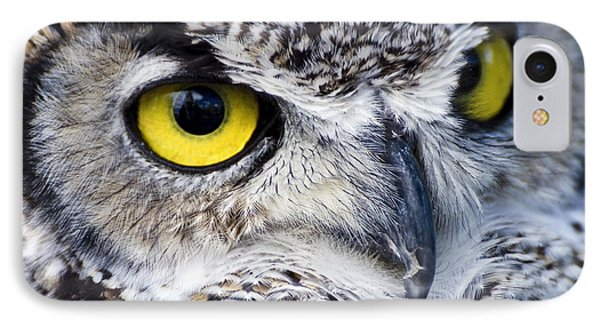 Great Horned Closeup IPhone Case