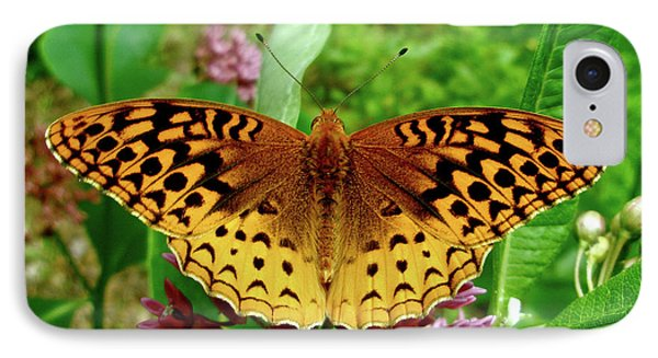 iPhone 8 Case - Great Spangled Fritillary Butterfly by Mother Nature