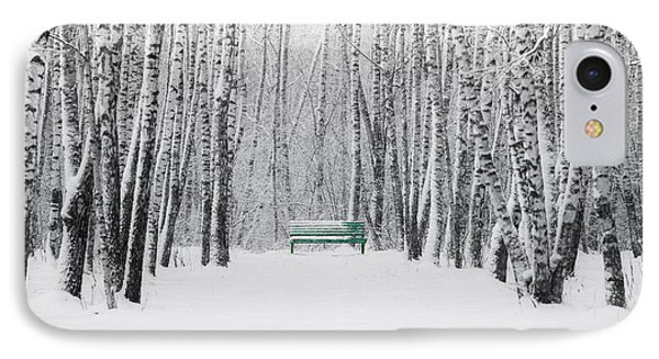 Green Bench IPhone Case